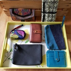 Bundle fossil wallet travel pouches clutch